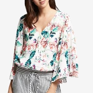 NWT! Sanctuary Gilligan Bell-Sleeve Wrap Top